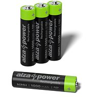 AlzaPower Rechargeable HR03 (AAA) 1000 mAh 4 pcs in Eco-box - Rechargeable Battery