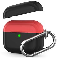 AhaStyle Case AirPods Pro with Clip Black/Red - Headphone Case