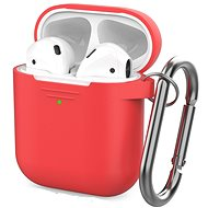 AhaStyle Case AirPods 1 & 2 with LED Indicator Red - Headphone Case