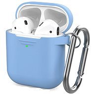 AhaStyle Case AirPods 1 & 2 with LED Indicator Sky Blue - Headphone Case