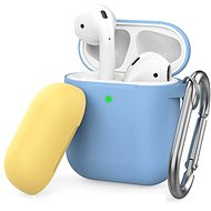 AhaStyle Case Airpods 1 & 2 with Clip Blue/Yellow - Headphone Case