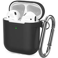AhaStyle Case AirPods 1 & 2 with LED Indicator Black - Headphone Case