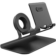 AhaStyle stand for mobile phones and watches 2in1 black - Stand