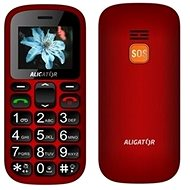 Aligator A321 Senior Red-Black + Desktop Charger - Mobile Phone