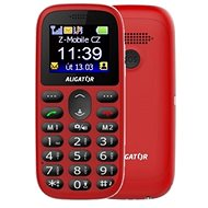 Aligator A510 Senior Red + Desktop Charger - Mobile Phone