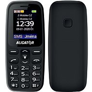 Senior Aligator A220, Black - Mobile Phone