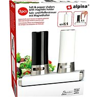 Alpina Salt + Pepper - Magnetic opening 15 x 9 x 13cm - Spice Shaker