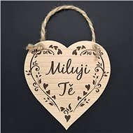 "AMADEA Wooden Heart with the Inscription ""I love you"" Solid Wood, 16 x 15cm - Decoration"