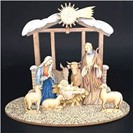 AMADEA Wooden Folding Nativity Scene 3D 20cm - Decoration