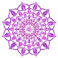 AMADEA Wooden Decoration Mandala Purple 20cm - Decoration