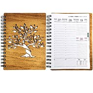 AMADEA Wooden Diary for 2021 with A5 Tree Motif - Decoration