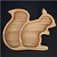 AMADEA Wooden Bowl in the Shape of a Squirrel, Solid Wood, size of 21.5x17cm - Bowl