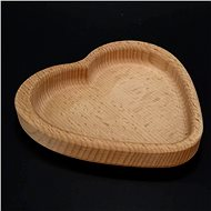AMADEA Wooden Bowl in the Shape of a Heart, Solid Wood, Size of 13.5x13.5x2cm - Bowl