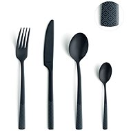 Manille Diamond 16 pcs black - Flatware set