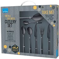 Amefa Manille 42pcs, All You Need, Black - Cutlery Set