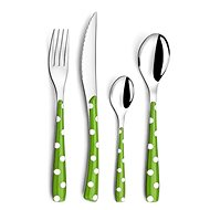 Amefa Zephyr Pois Dots Cutlery Set 24pcs, Green, 372242G