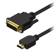 AlzaPower DVI-D to HDMI Single Link Interconnect 1m - Video Cable