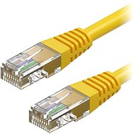 AlzaPower Patch CAT5E UTP 0.5m Yellow - Network Cable