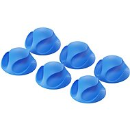 AlzaPower Cable Clips, 6pcs, Blue - Cable Organiser