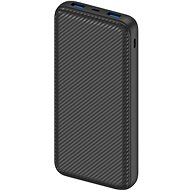 Powerbank AlzaPower Carbon 20,000mAh Fast Charge + PD3.0 Black - Powerbanka