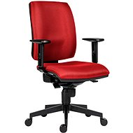 ANTARES 1380 Syn Flute SL D3, Red + BR06 armrests - Office Chair