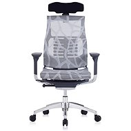 ANTARES Pofit Dark Grey Frame, Silver Net with Drawing - Office Chair