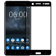 Screenshield NOKIA 6 (2017) Tempered Glass Protection (full COVER black) on the screen - Tempered glass screen protector
