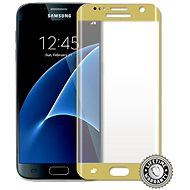 ScreenShield Tempered Glass Samsung Galaxy S7 G930 Gold - Glass protector