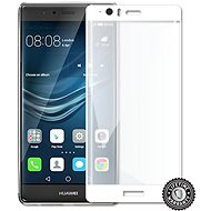 Screenshield Huawei P9 Plus VIE-L09 Tempered Glass Protection (full COVER WHITE metallic frame) - Glass protector