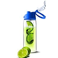 ASOBU Flavour It Fresh Water Bottle with Built-In Fruit Infuser Blue 600ml - Bottle