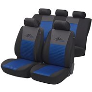 Walser seat covers on the entire Racing Blue / Black - Car Seat Covers