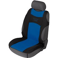 Walser Front Seat Cover Tuning Star Black/Blue - Car Seat Covers