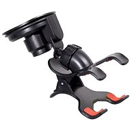 COMPASS Phone/GPS holder with Double CLIPS & suction cup - Car Holder