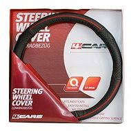 4CARS Black leather cover with red stitching - Cover