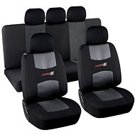 Compass Seat Cover Set 9pcs CARBON DARK - Car Seat Covers
