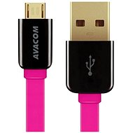 AVACOM MIC-120P microUSB 120cm pink - Data cable