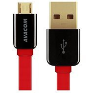AVACOM MIC-120R microUSB 120cm Red - Data cable