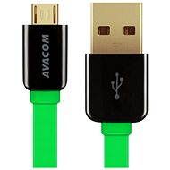 AVACOM MIC-40G microUSB 40cm green - Data cable