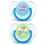 Philips AVENT TEXT Pacifier 6-18 months, blue and green - Pacifier
