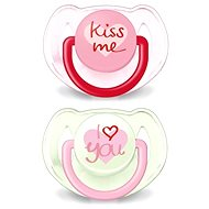 Philips AVENT TEXT Pacifier 6-18 months, pink and green - Pacifier