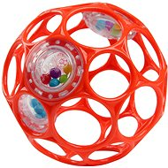 Oball RATTLE 10cm for Babies from Birth, Orange