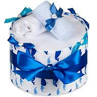 T-tomi diaper cake - large whale - Set