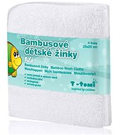 T-tomi Bamboo Baby Washcloths 4ct - White - Washcloth