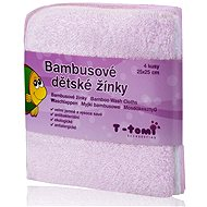 T-tomi Bamboo Baby Washcloths 4ct - Pink - Washcloth
