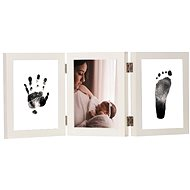 GOLD BABY Opening tri-frame for ink imprint - white - Creative Kit