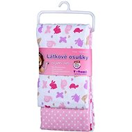 T-tomi Towels 2 pcs - Pink Snails - Children's bath towel