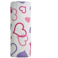 T-tomi Bamboo bath towel 1 pc - hearts - Children's bath towel
