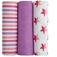 T-tomi Bamboo Diapers, 3pcs, Pink Stars - Baby Nappies