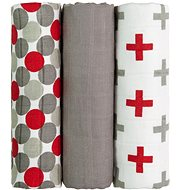 T-tomi Bamboo Diapers, 3pcs, Red Balls - Baby Nappies