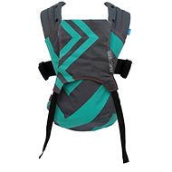 We made me Baby carrier Kaatu Baby Mint Charcoal Zigzag - Carrier